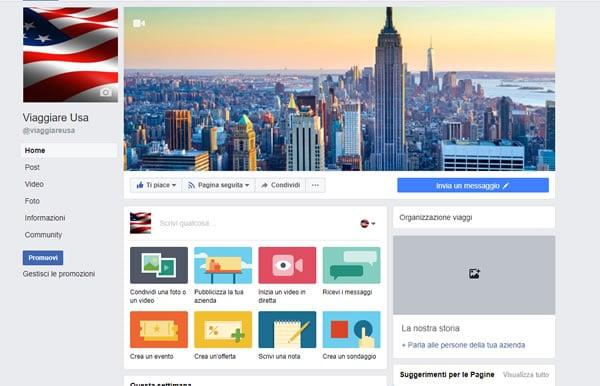 viaggiare usa facebook